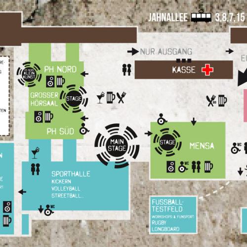 Festival-Geländeplan & Icon-Design